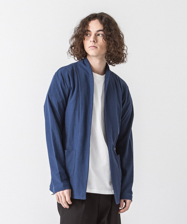 Dry Amunzen Buttonless Cardigan - BLUE