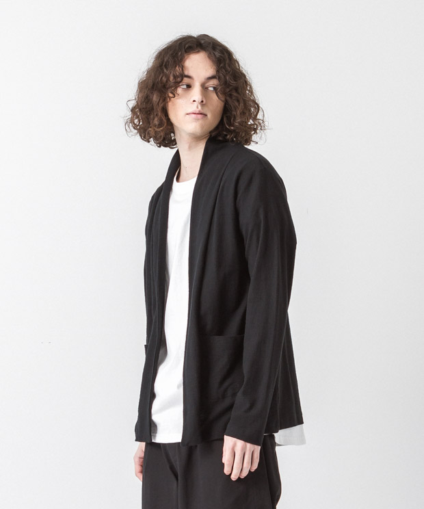 Dry Amunzen Buttonless Cardigan - BLACK