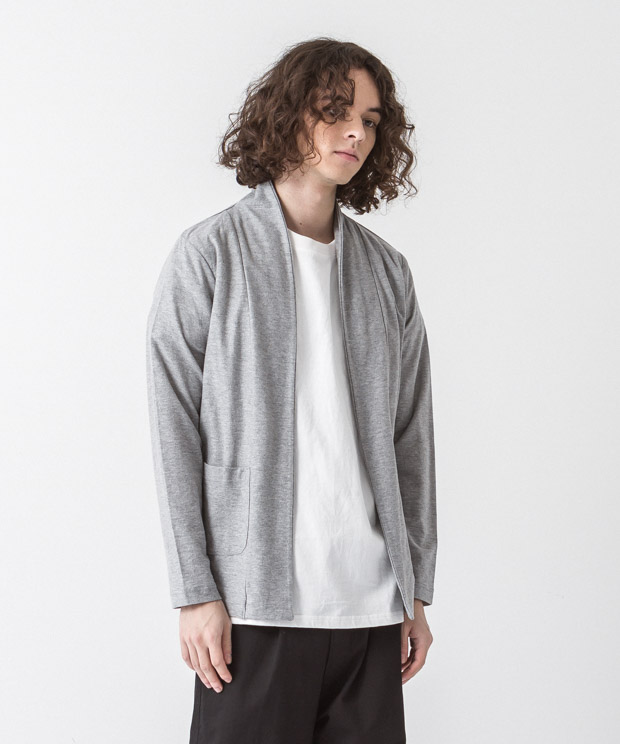 Dry Amunzen Buttonless Cardigan - GRAY