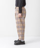 Tartan Check Stretch Easy Pants - BLACK