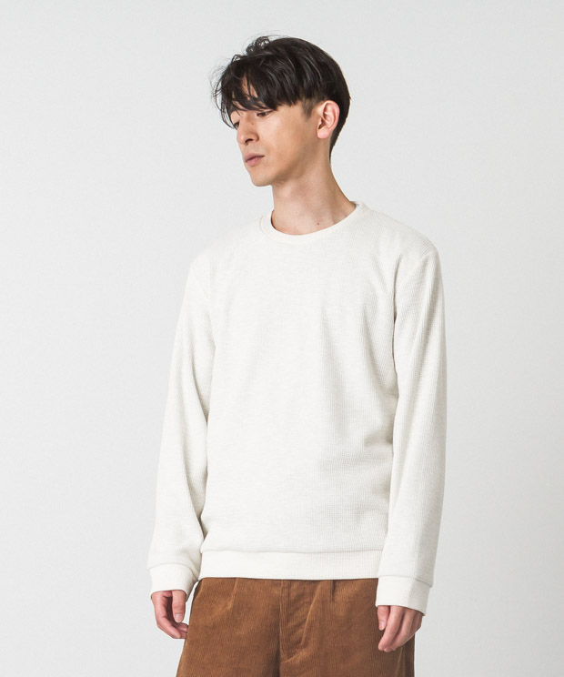 Double Cloth Crewneck Pullover - IVORY