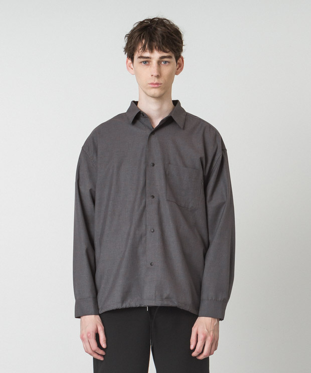 T/R Clear Twill Shirt Jacket - CHARCOAL