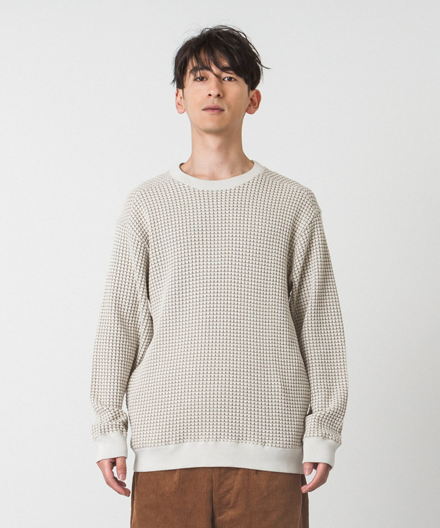 [19AW先行予約販売] Big Waffle Pullover - IVORY