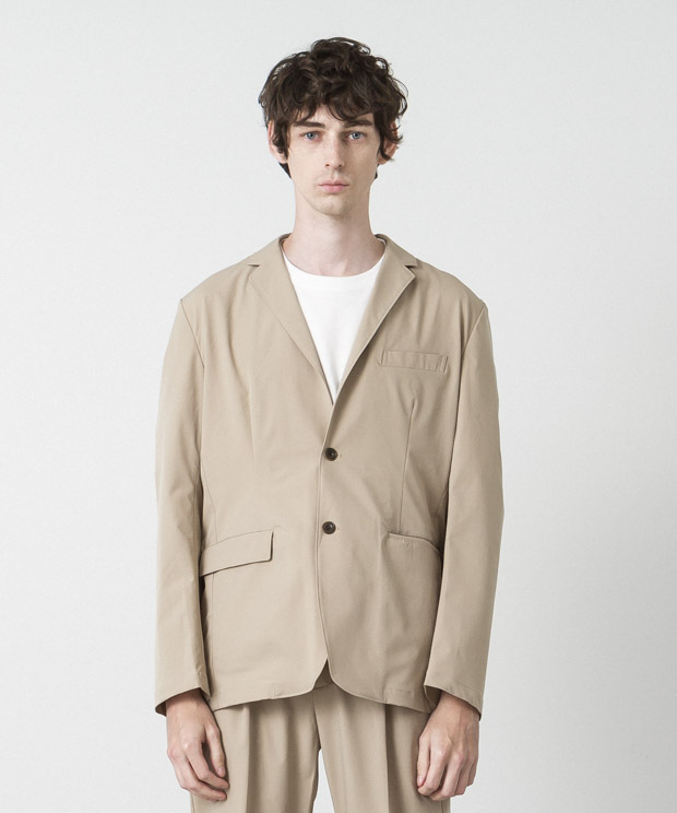 Solotex 4Way Twill Tailored Jacket - BEIGE