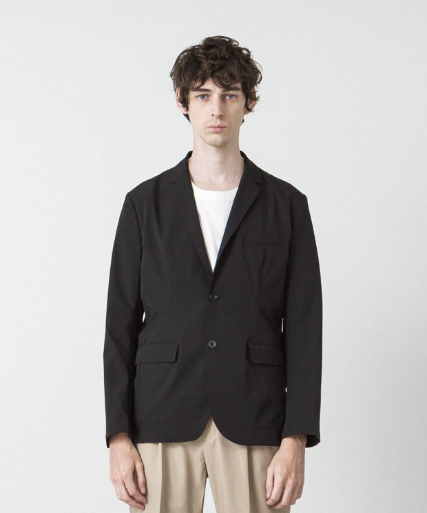 Solotex 4Way Twill Tailored Jacket - BLACK