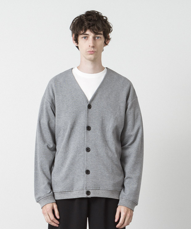 Milano Ponte Double Cloth Cardigan - GRAY