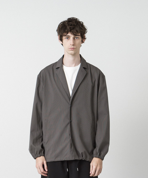 Nobilia T/R Tailor Collar Coach Jacket - BROWN