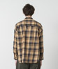 Tartan Check Dropped Shoulders Shirt - BEIGE