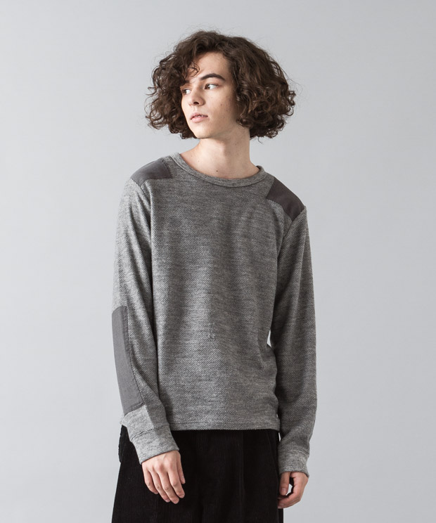 Tr Fleece Military Knit - GRAY