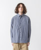 Typewriter Check Dropped Shoulders Shirt - BEIGE