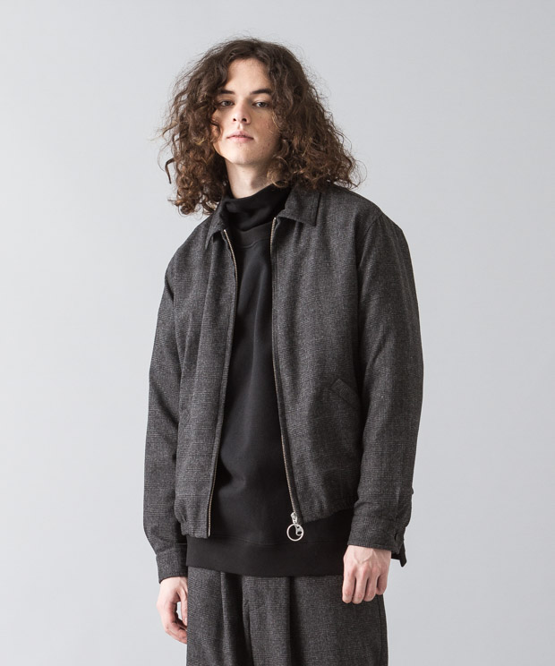 Glencheck Drizzler Jacket - CHARCOAL