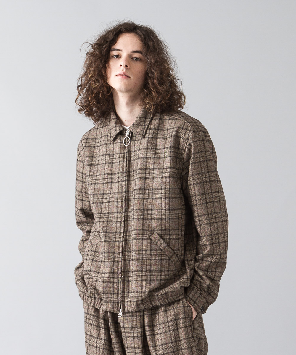 [予約商品]Glencheck Drizzler Jacket - BROWN