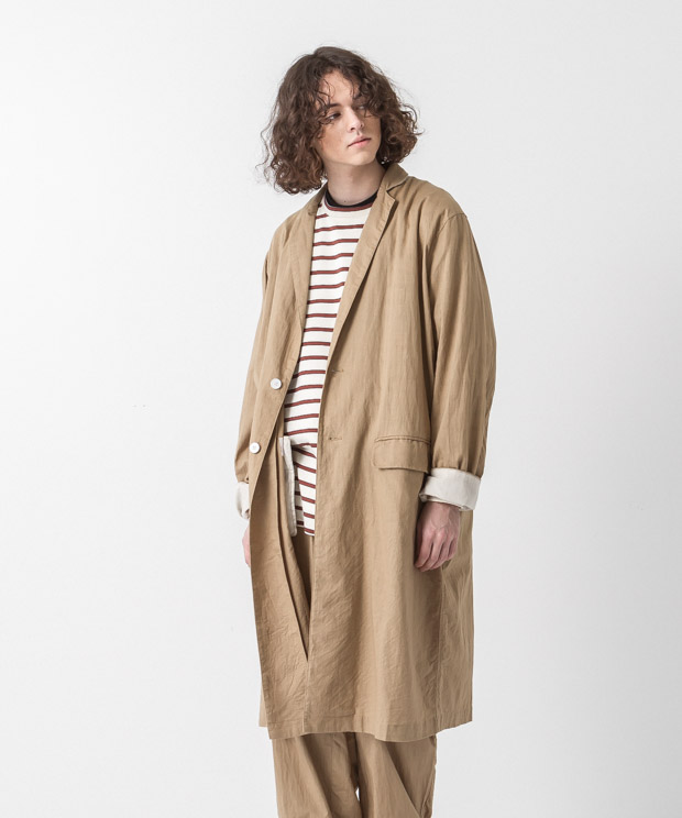 Cotton Linen Coat - BEIGE