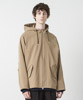 Back Pique Hooded Jacket - BEIGE