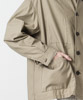 Oiled Cloth Oversized Coverall - BEIGE
