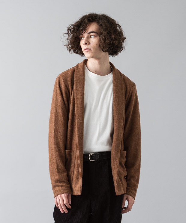 Tr Fleece Gown Cardigan - CAMEL