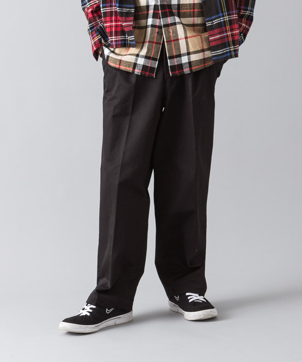 2Tucked Wide Prime Chino Pants - BLACK