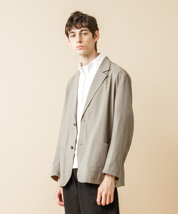 EVALET Thick&Thin Tailored Jacket - BEIGE