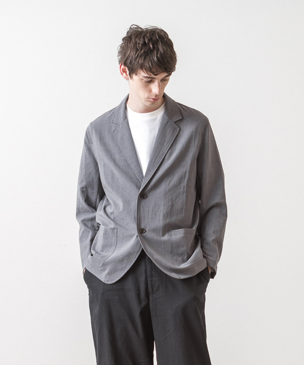 EVALET Thick&Thin Tailored Jacket - GRAY