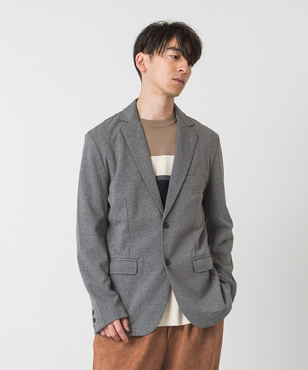 CVC Ponte Tailored Jacket - CHARCOAL