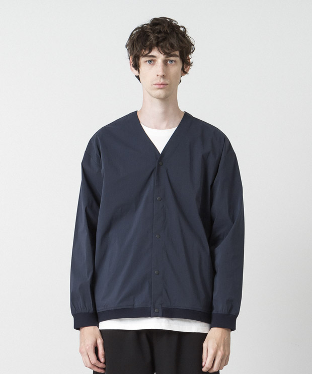 Nyon Dry Wheather 4Way Stretch Snap Cardigan - NAVY