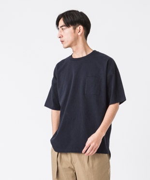 MVS Drop Shoulder Tee - NAVY