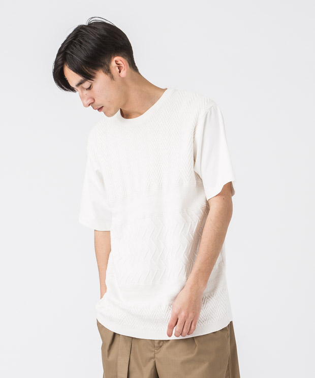 Check Links Crewneck T-Shirt - WHITE