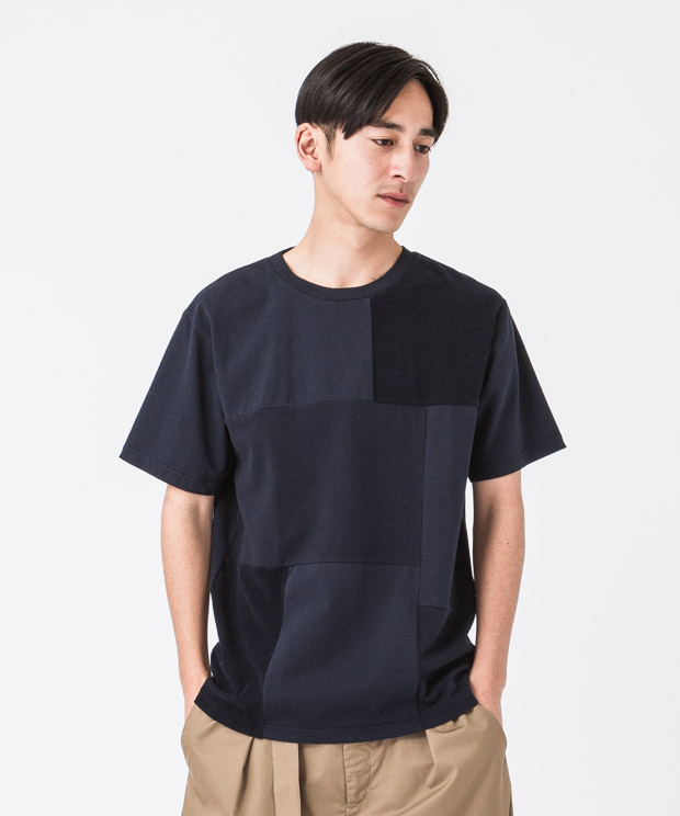 MVS Patchwork T-Shirt - NAVY