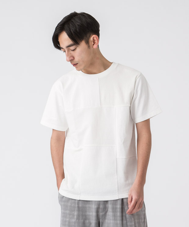 MVS Patchwork T-Shirt - WHITE