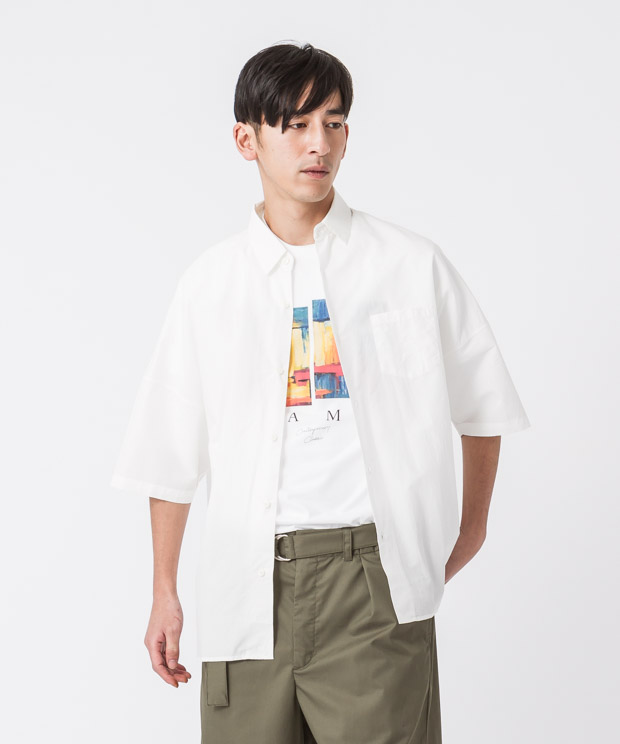 Typewriter Oversized Shirt - WHITE