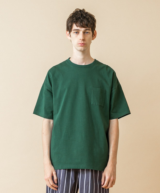 MVS Jersey Dropped Shoulders T-Shirt - GREEN