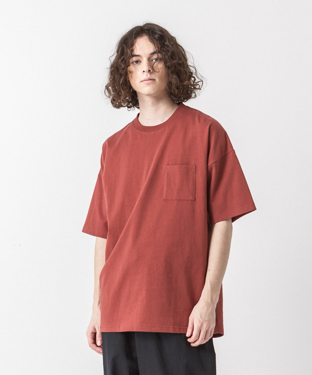 MVS Jersey Dropped Shoulders T-Shirt - BROWN