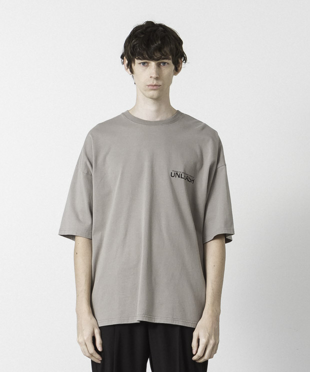 Dropped Shoulders Printed T-Shirt ( Unleash ) - BEIGE