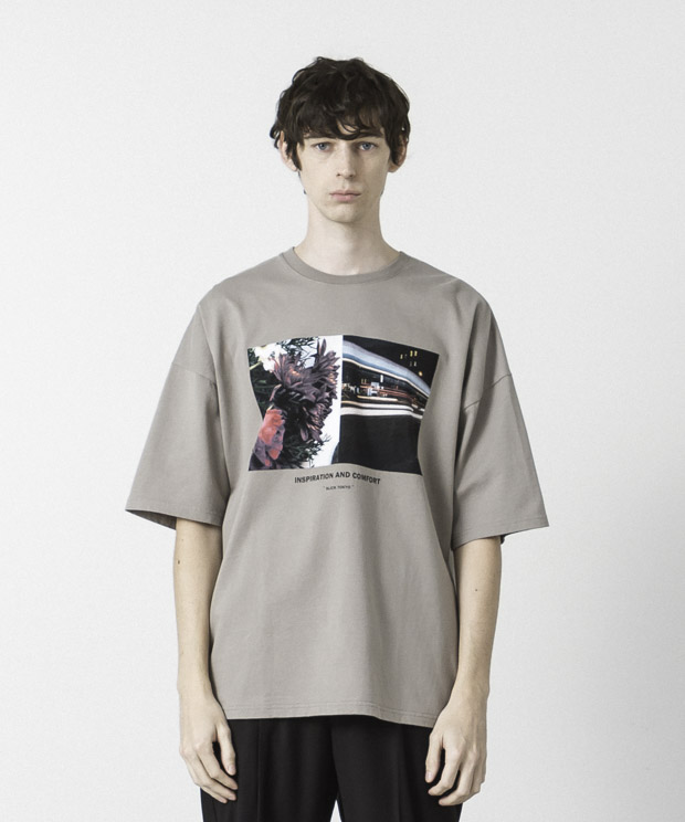 Dropped Shoulders Printed T-Shirt ( Inspiration ) - BEIGE