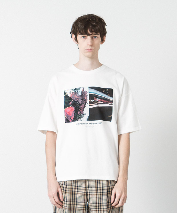 Dropped Shoulders Printed T-Shirt ( Inspiration ) - WHITE