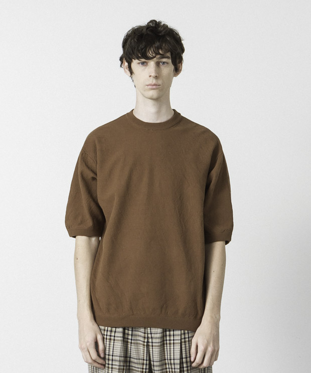 High Twist Pique Pullover Knit - BROWN