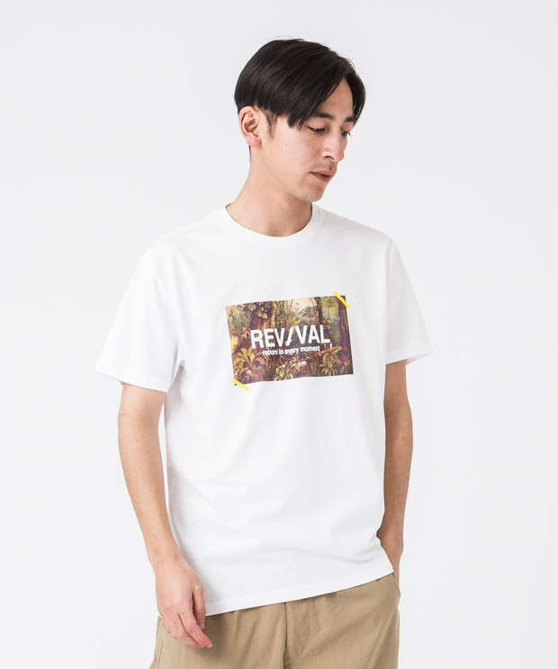 Printed T-Shirt(Revival) - WHITE