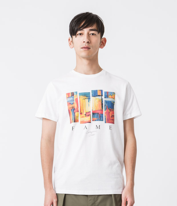 Printed T-Shirt(Fame) - WHITE