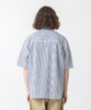 Striped Dropped Shoulders Shirt - NAVY/BEIGE