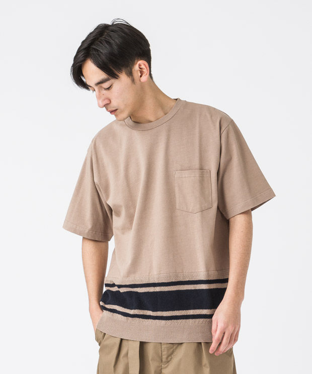 Combination T-Shirt - BEIGE