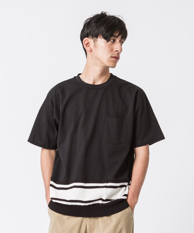 Combination T-Shirt - BLACK