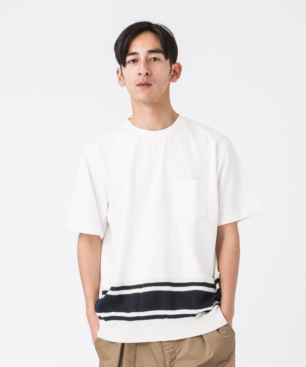 Combination T-Shirt - WHITE