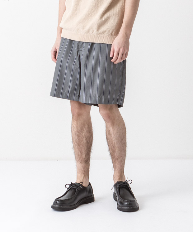80/2 Striped Easy Shorts - GREEN