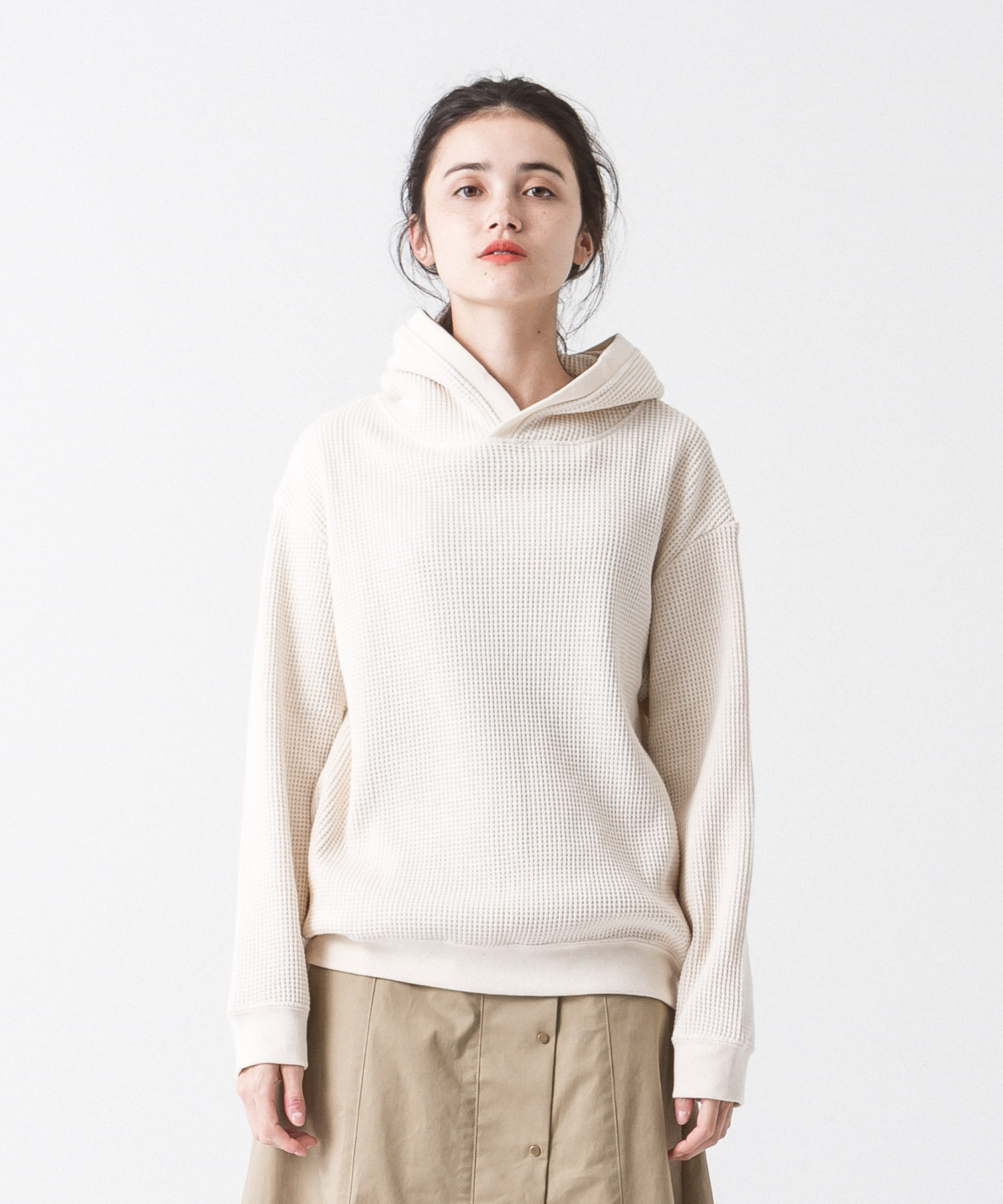 [19AW先行予約販売] Waffle Hoodie - NATURAL
