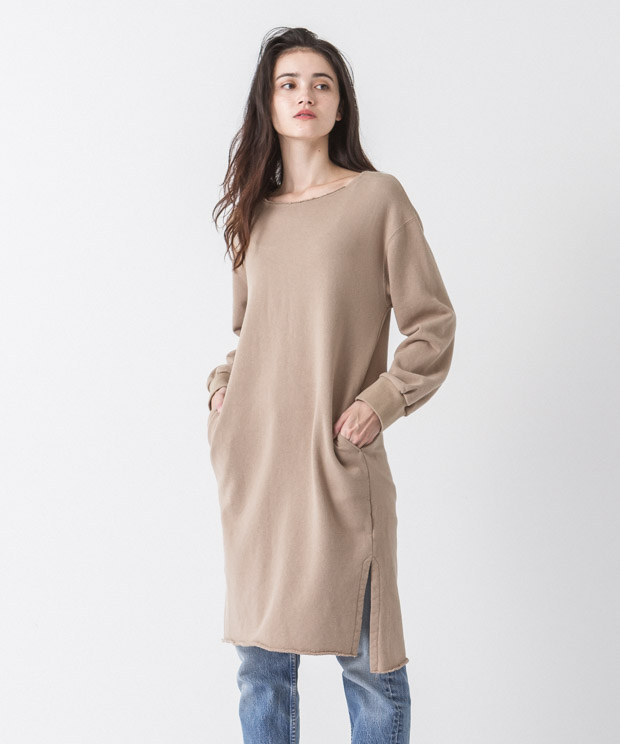 Sweat Dress - BEIGE