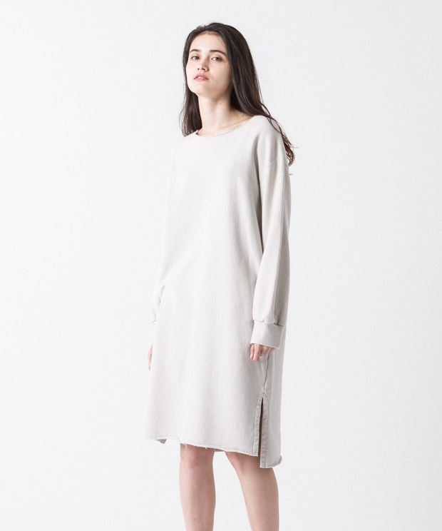 Sweat Dress - GRAY BEIGE