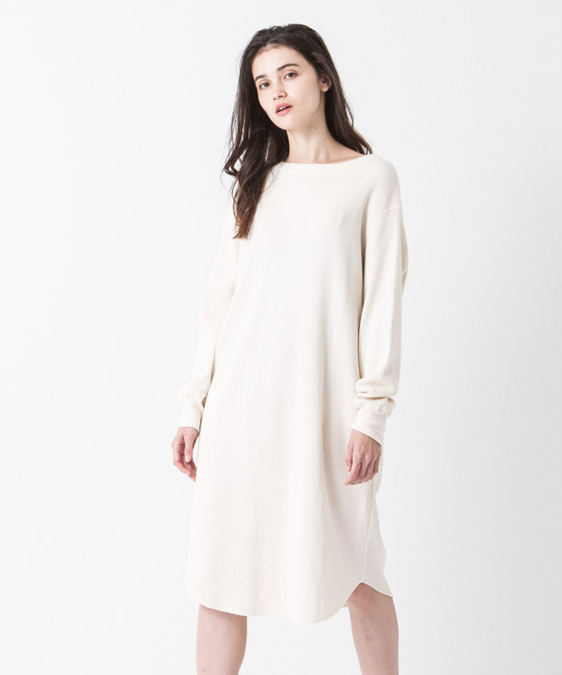 2Way Waffle Dress - NATURAL