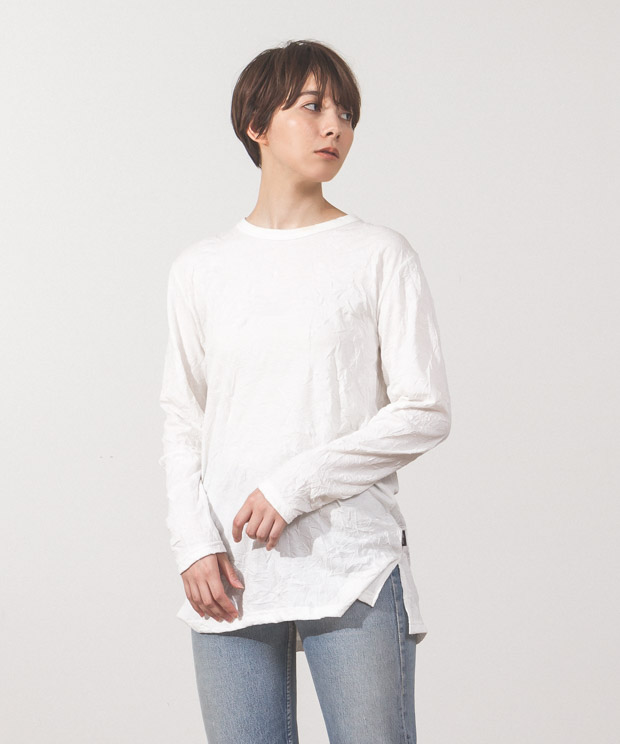 Catch-Washer T-Shirt - WHITE
