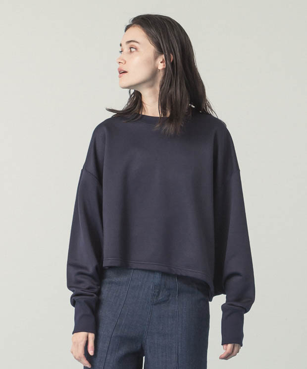 Crewneck Short Sweatshirt - NAVY