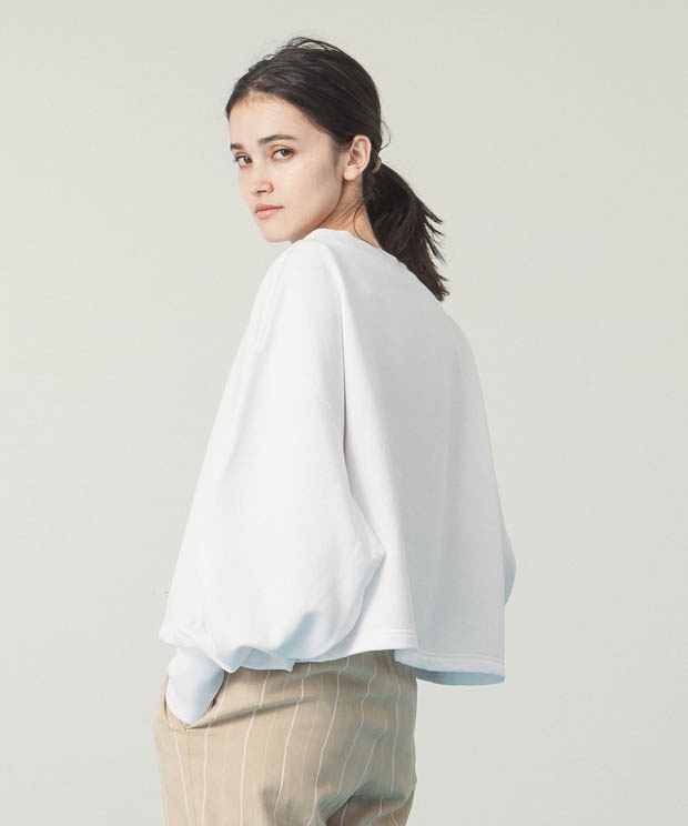 Crewneck Short Sweatshirt - WHITE